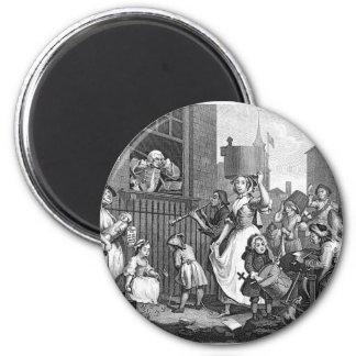 Revolting Crowd (Vintage) 6 Cm Round Magnet