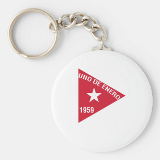 Revolución Basic Round Button Key Ring