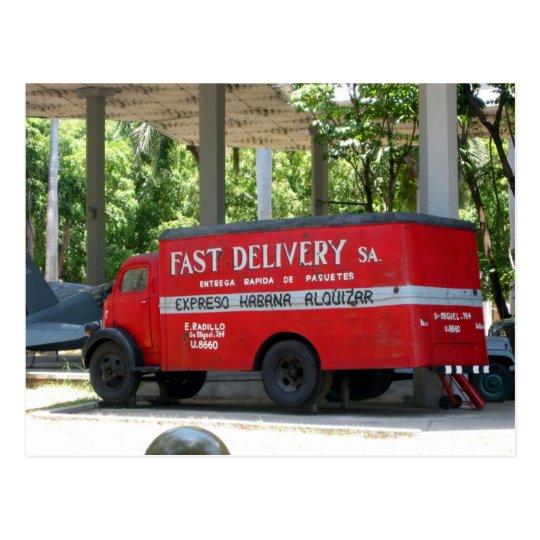 revolución delivery postcard