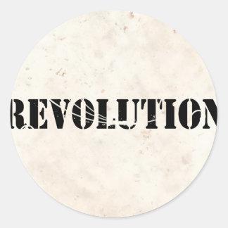 Revolution 4 round stickers