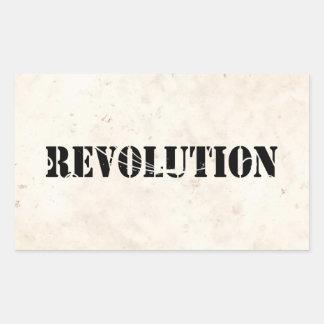 Revolution 4 rectangular stickers