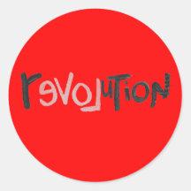 Revolution - Anti Social Round Sticker