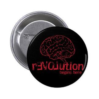 rEVOLution Begins Here Button Button