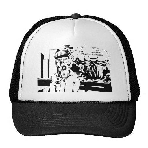 Revolution black and white trucker hats