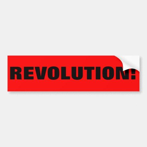 REVOLUTION! BUMPER STICKERS