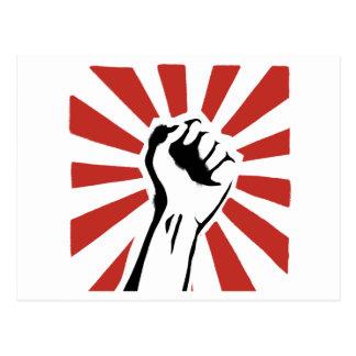 Revolution fist postcard