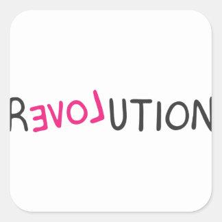 Revolution Graffiti Square Stickers