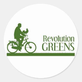 Revolution Greens Round Sticker