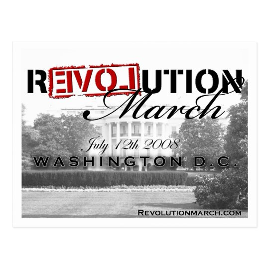 Revolution March postcard! Postcard
