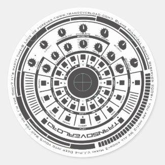 Revolution Round Stickers