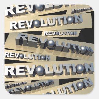 Revolution Square Stickers