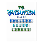 Revolution will be tweeted liked shared (Ver.2) Postcard