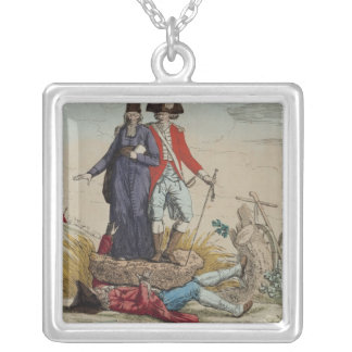 Revolutionary cartoon about Tithes Silver Plated Necklace