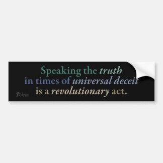 Revolutionary Truth Bumper Sticker