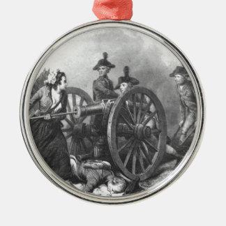 Revolutionary War Molly Pitcher Cannon Ornament