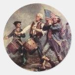 Revolutionary War Round Sticker