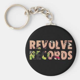Revolve Records logo Basic Round Button Key Ring