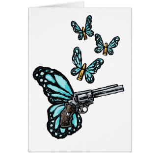 Revolver, Bullets and Butterflies Products Cards