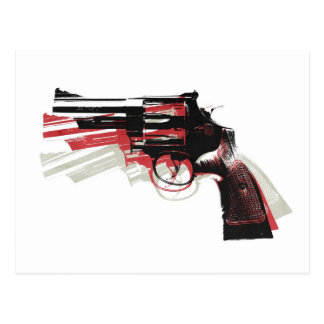 Revolver on White Post Cards