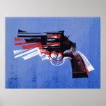 Revolver on White Poster