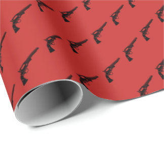 Revolver Tiled Red Wrapping Paper