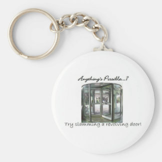 Revolving Door Basic Round Button Key Ring