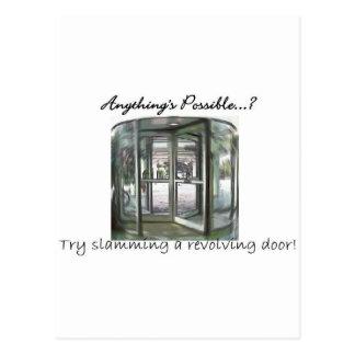 Revolving Door Postcard