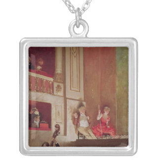 Revue at the Theatre des Varietes, c.1885 Silver Plated Necklace