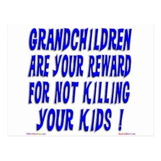 Reward For Grandparents Postcard