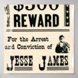 Reward for Jesse James Print