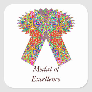 Reward n Award Excellence in Life Square Sticker