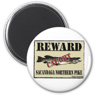 Reward Northern Pike 6 Cm Round Magnet