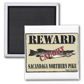 Reward Northern Pike Square Magnet