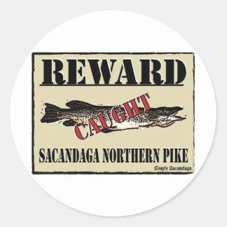Reward Northern Pike Round Stickers