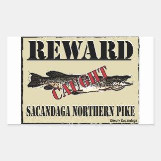 Reward Northern Pike Rectangular Sticker