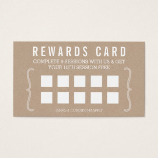 REWARD PUNCH CARD simple text minimal trendy kraft