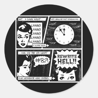 Rewrite Hell Comic Strip Sticker