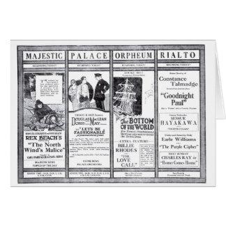 Rex Beach Doris May movie newspaper ads 1920 Greeting Card