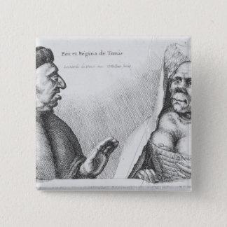 Rex et Regina de Tunis 15 Cm Square Badge