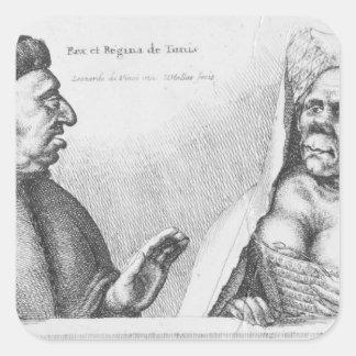 Rex et Regina de Tunis Square Sticker