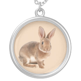 Rex rabbit silver plated necklace