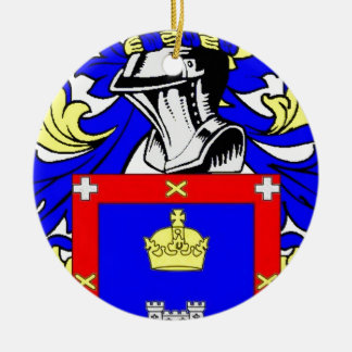 Reyes Coat of Arms Christmas Ornaments