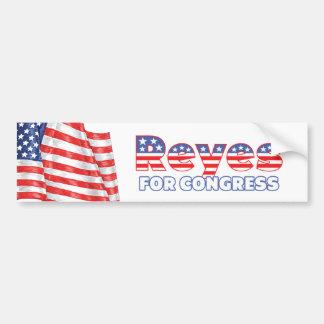 Reyes for Congress Patriotic American Flag Bumper Sticker
