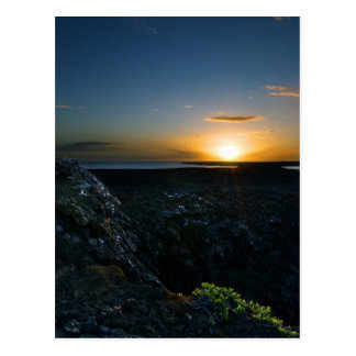 Reykjanes Sunset #2 Postcard