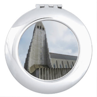 REYKJAVIC CATHEDRAL - ICELAND COMPACT MIRROR