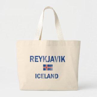 Reykjavik Iceland Designs Large Tote Bag