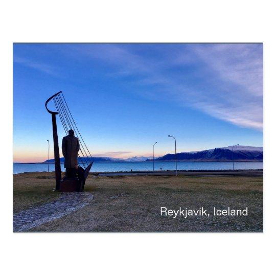 Reykjavik Iceland Postcard with writing