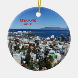 Reykjavik Iceland Scenic Christmas Ornament