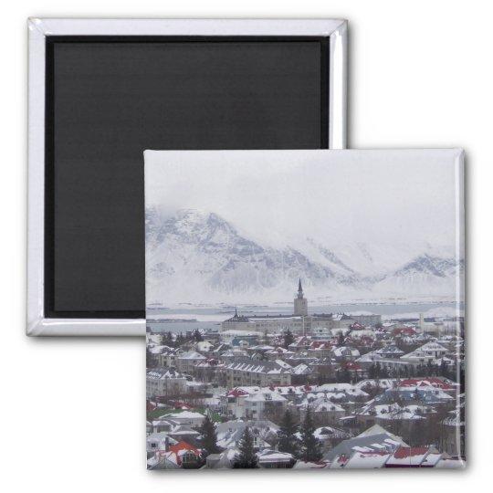 Reykjavik Iceland Square Magnet