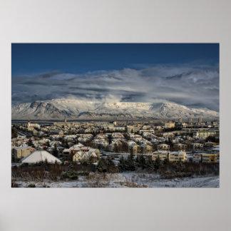 Reykjavik in Winterdress Poster